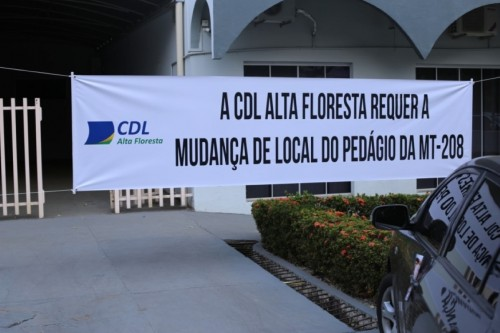 CDL Alta Floresta requer a mudança de local do pedágio da MT-208